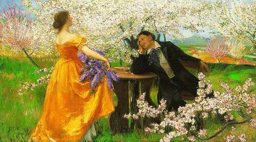 István Csók - The Awakening of Spring