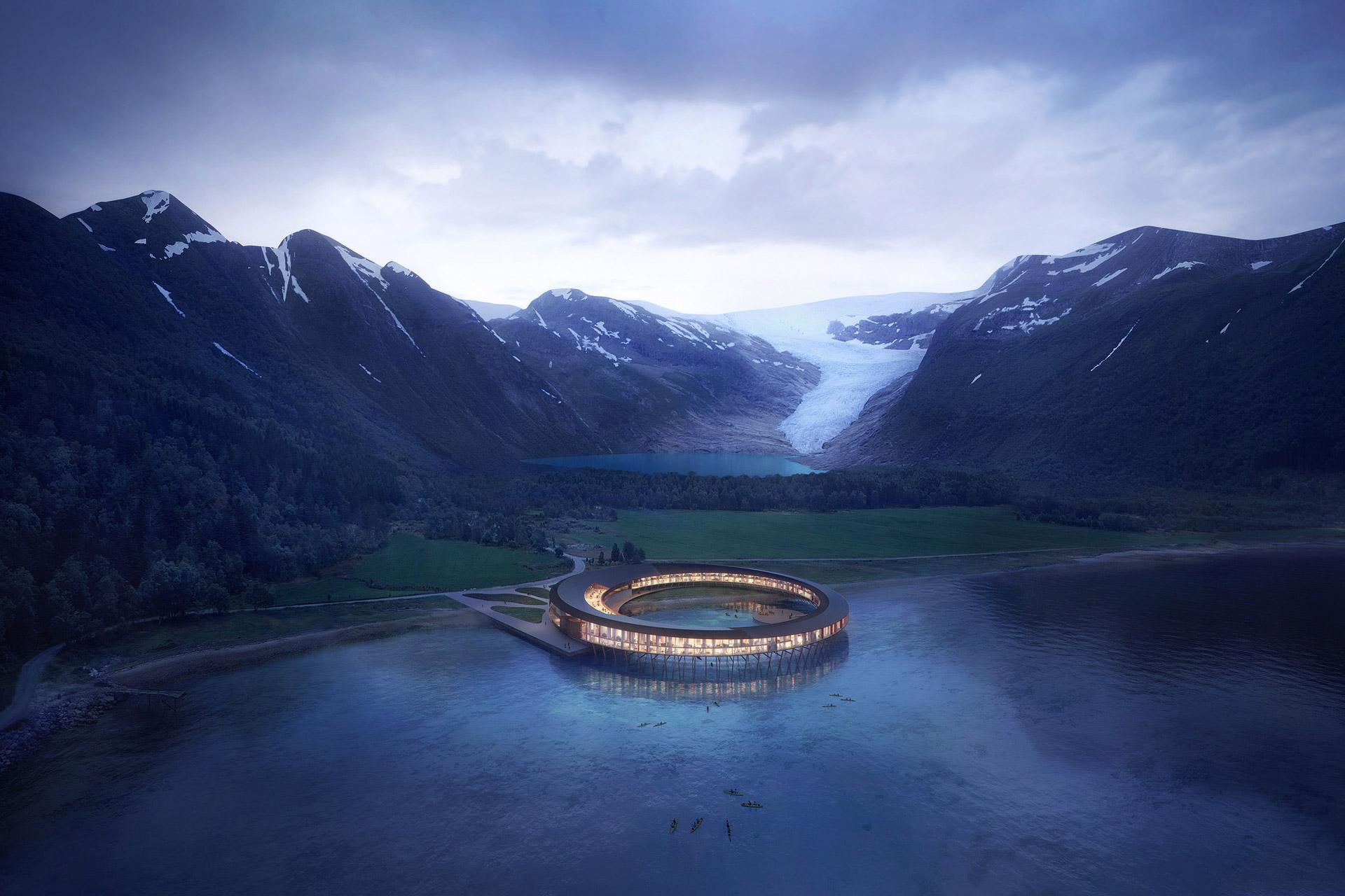 Скандинавский суперпроект: отель на солнечных батареях в арктическом климате (8 фото)
