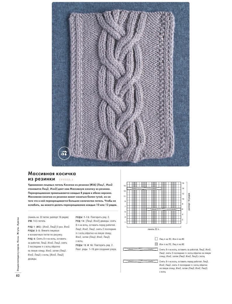 Вязание косой или жгутом 778