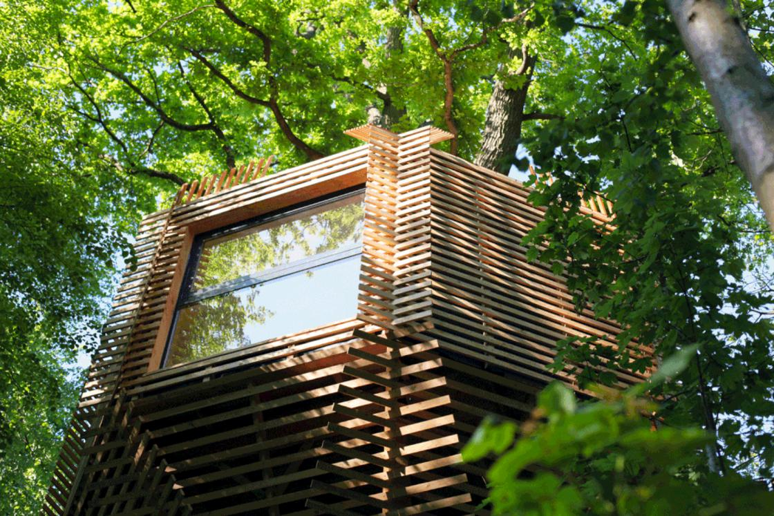 ORIGIN – This beautiful tree house is a real cocoon up in the trees