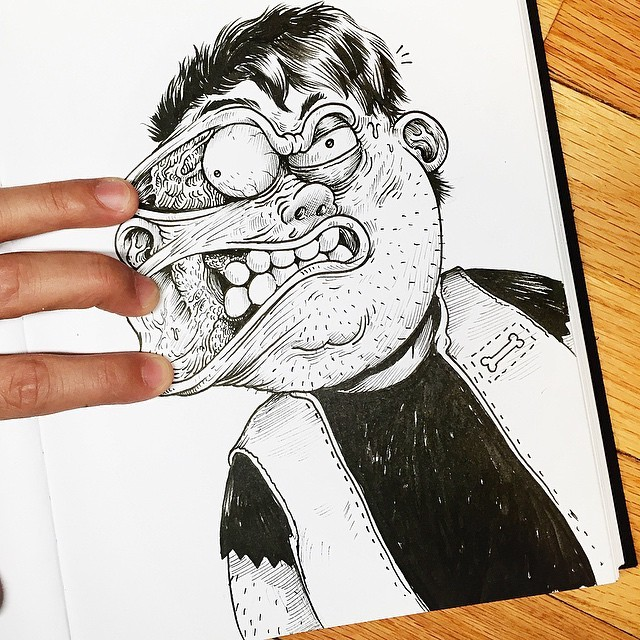 Interactive Ink illustrations (16 pics)