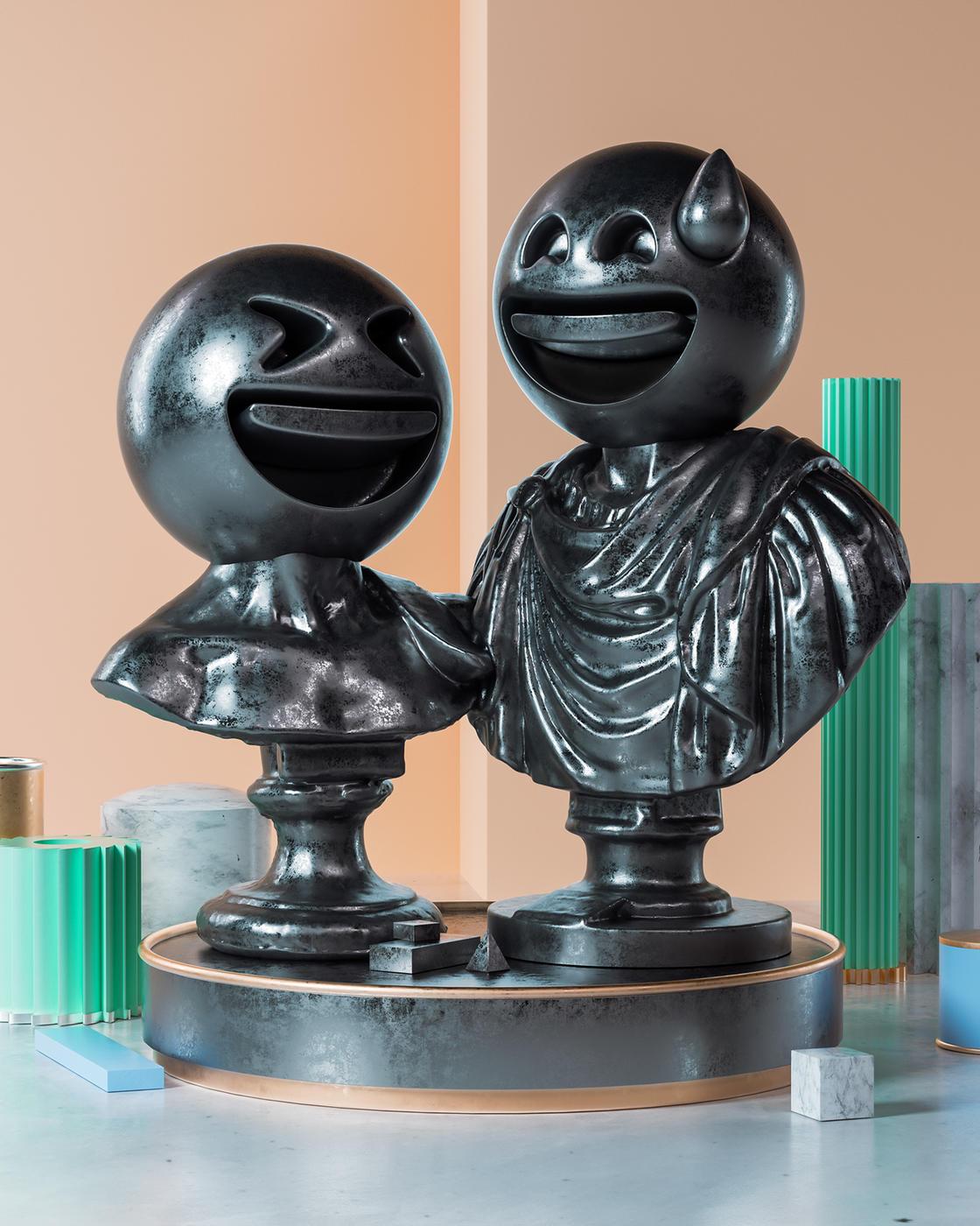 Sculptmojis – When emojis meet classical sculpture