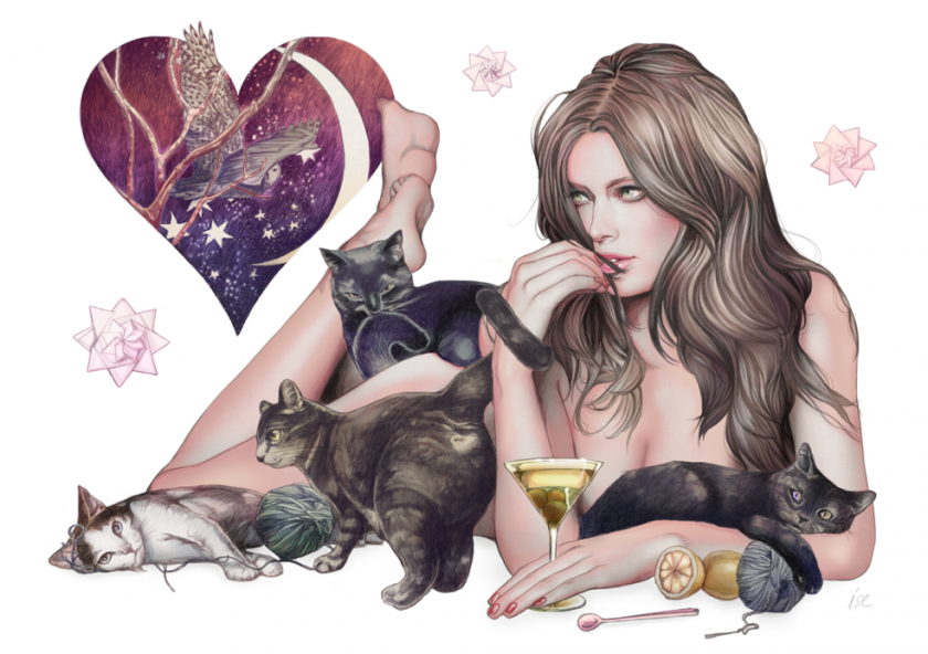 Sensual Illustrations by Ise Ananphada