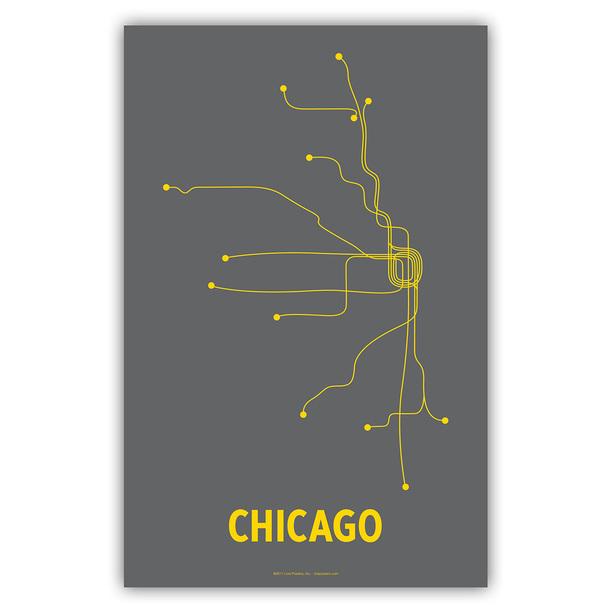 Lineposters - Minimalist City Transit Map Posters - Cayla Ferari & John Breznicky