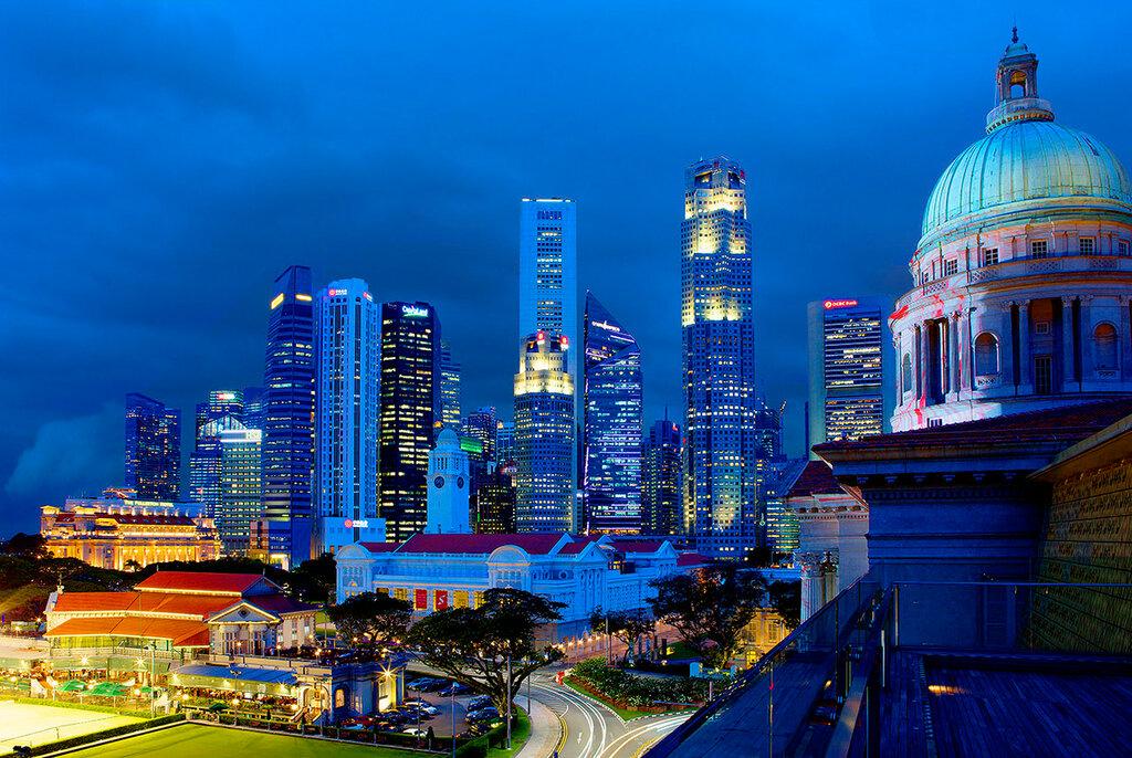 Вечерний Сингапур. Деловой центр.