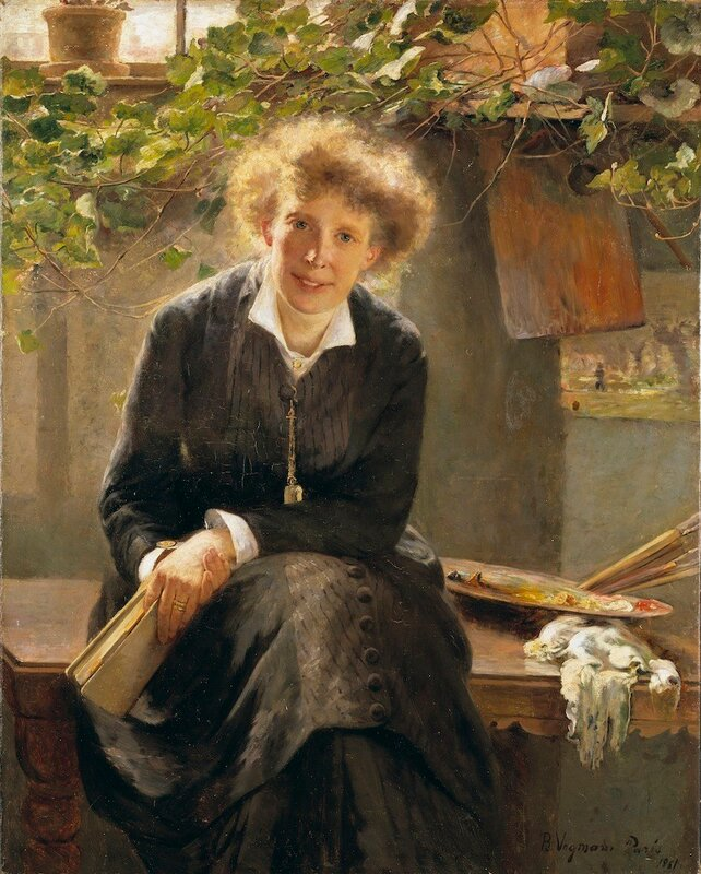 Portrait of Jeanna Bauck Bertha Wegmann - 1881