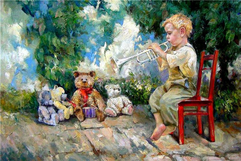 Мишки в картинах Инессы Морозовой