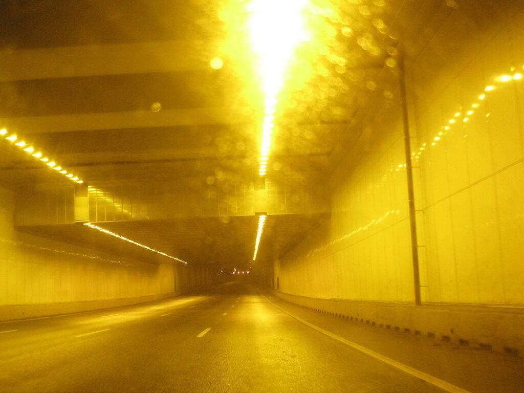 Освещение тоннеля центрального участка ЗСД.