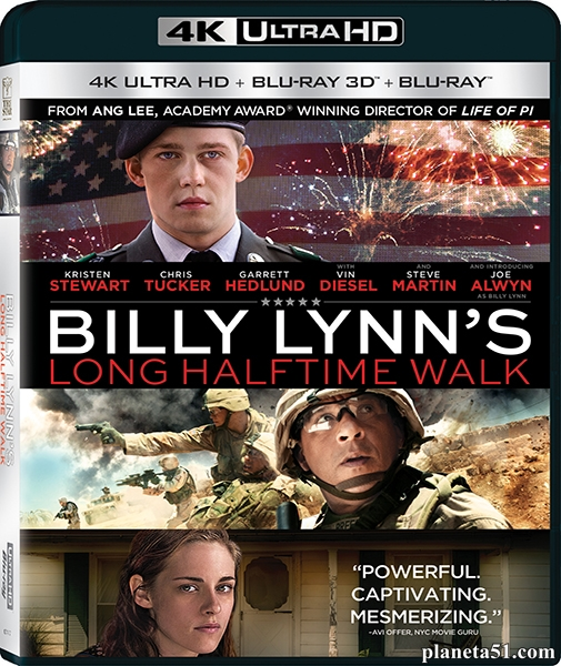 Долгий путь Билли Линна в перерыве футбольного матча / Billy Lynn's Long Halftime Walk (2016/BDRip/HDRip/3D) + Remux