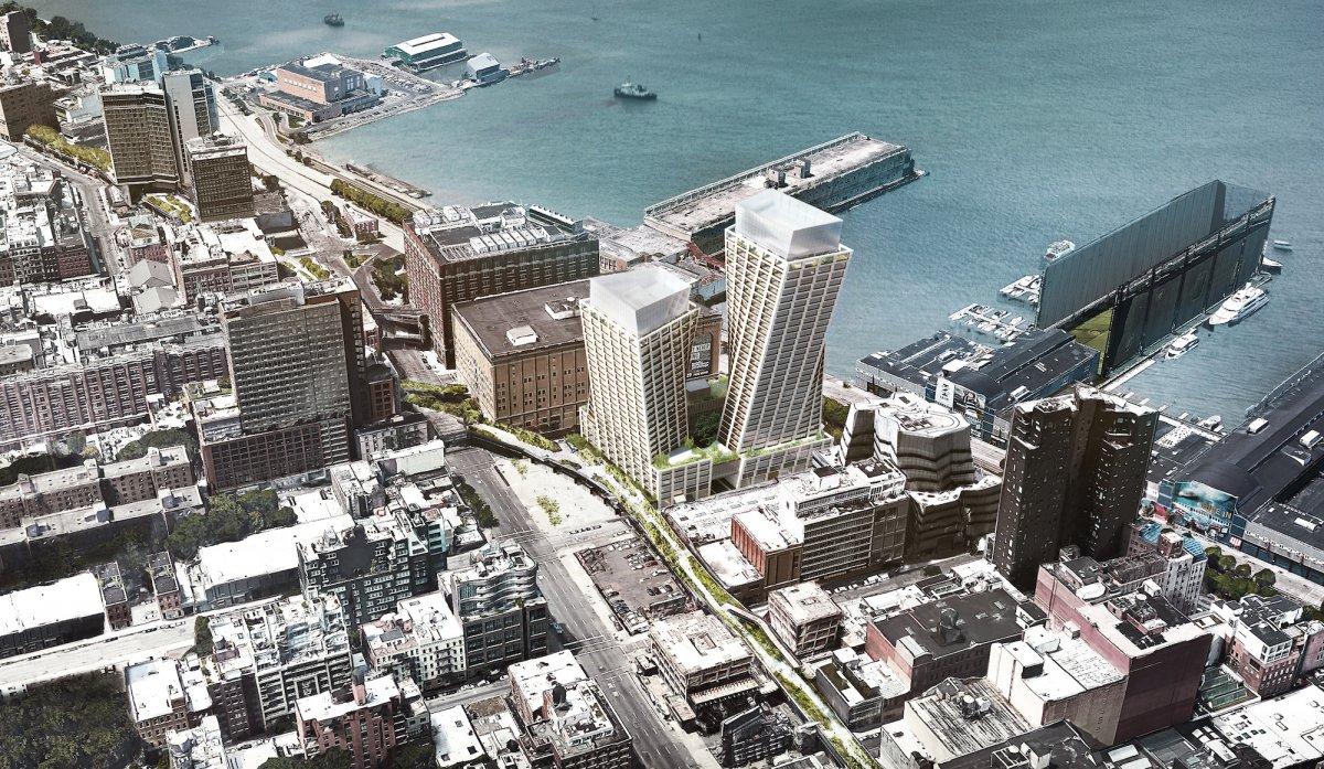 The Eleventh (Нью-Йорк, США). Проектирование — Bjarke Ingels Group. Высота — 91 и 121 метр. Строител