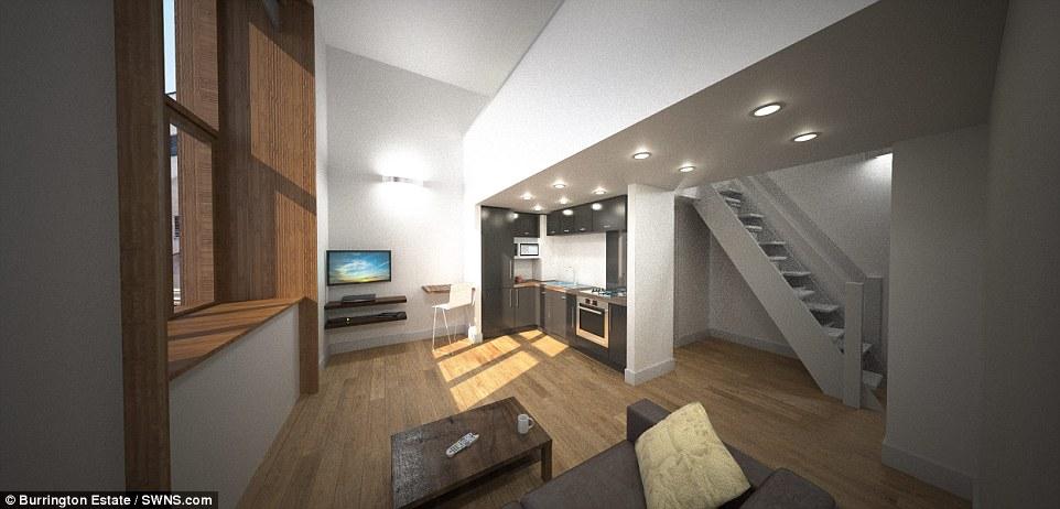 Впрочем, в городке Эксетер за 1000 фунтов (1333 доллара) в месяц можно снять вот такую комнату в зда
