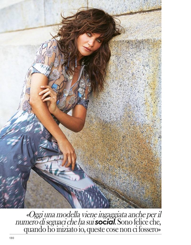 Хелена Кристенсен на обложке Grazia Italy