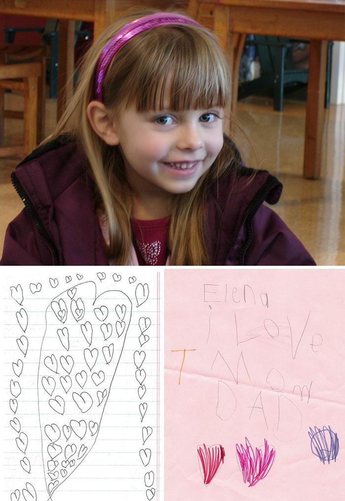 Когда у шестилетней Елены обнаружили рак мозга, она начала прятать сотни маленьких записок с признан