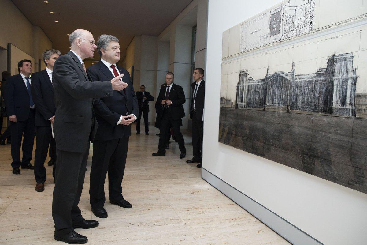 Порошенко вГермании обещали единство позиции поагрессии РФ