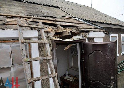 ВЗайцево в итоге обстрела был разрушен личный дом