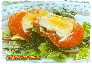 Запечёны томаты под соусом