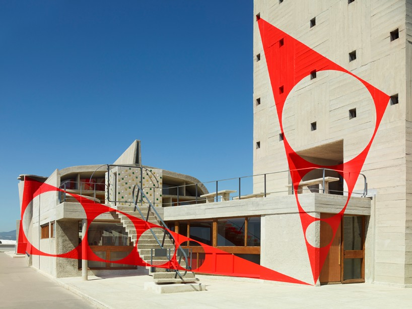 Colorful Anamorphosis on the Le Corbusier's Cite Radieuse