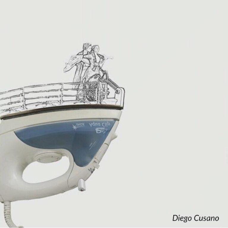 Ilustracoes com objetos aleatorios por Diego Cusano