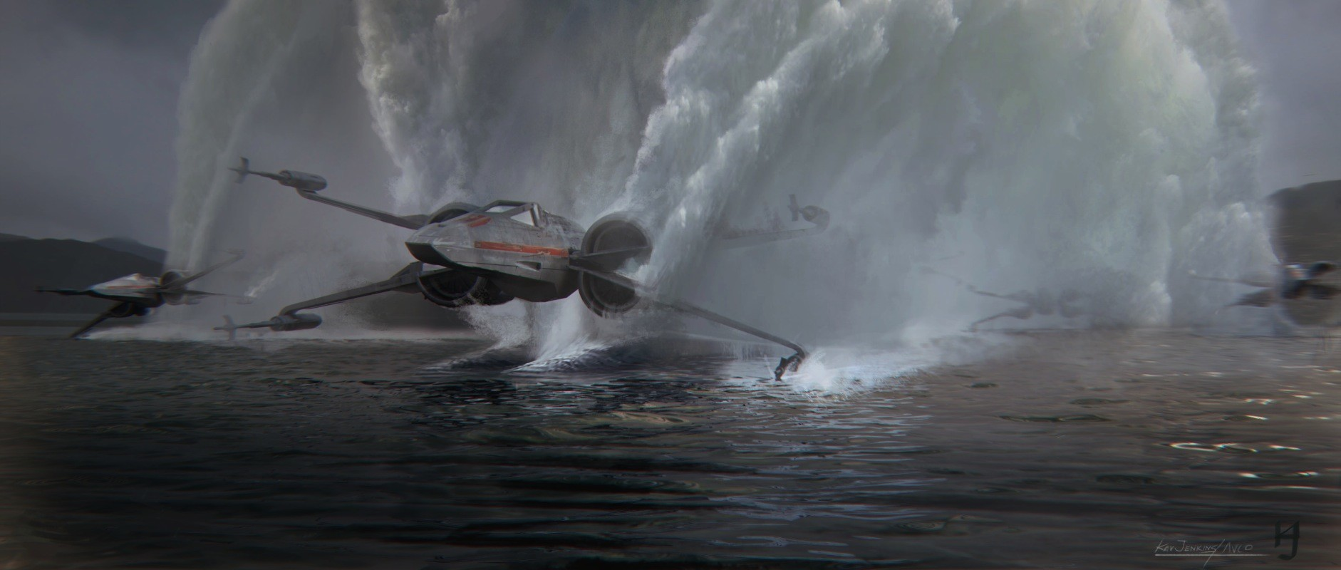 Star Wars: The Force Awakens Concept Art by Kevin Jenkins
