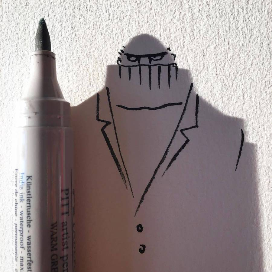 Clever Illustrations Playing with Shadows
