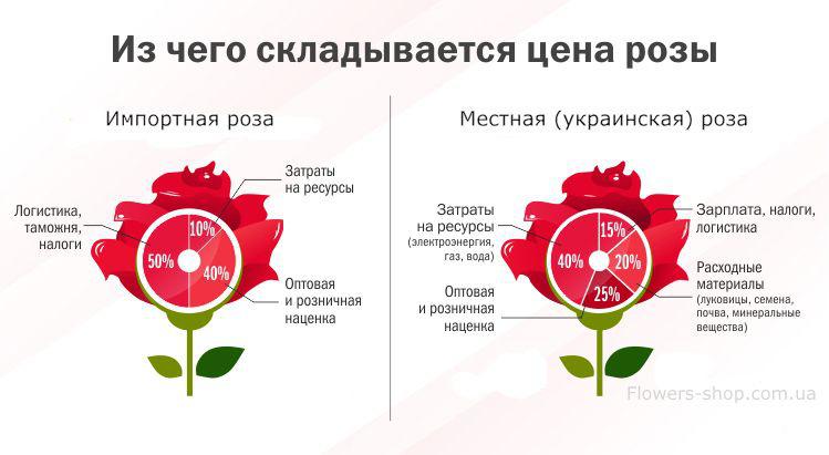 стоимость роз