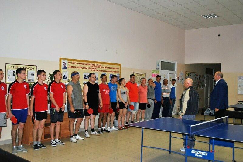 Соревнования по теннису в станице Бриньковской, 14 мая 2017