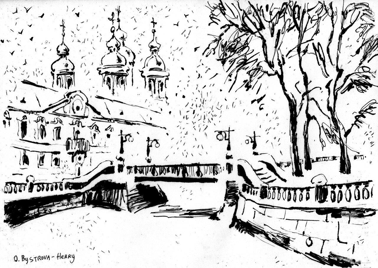 St Petersbourg. StNicolas_neige