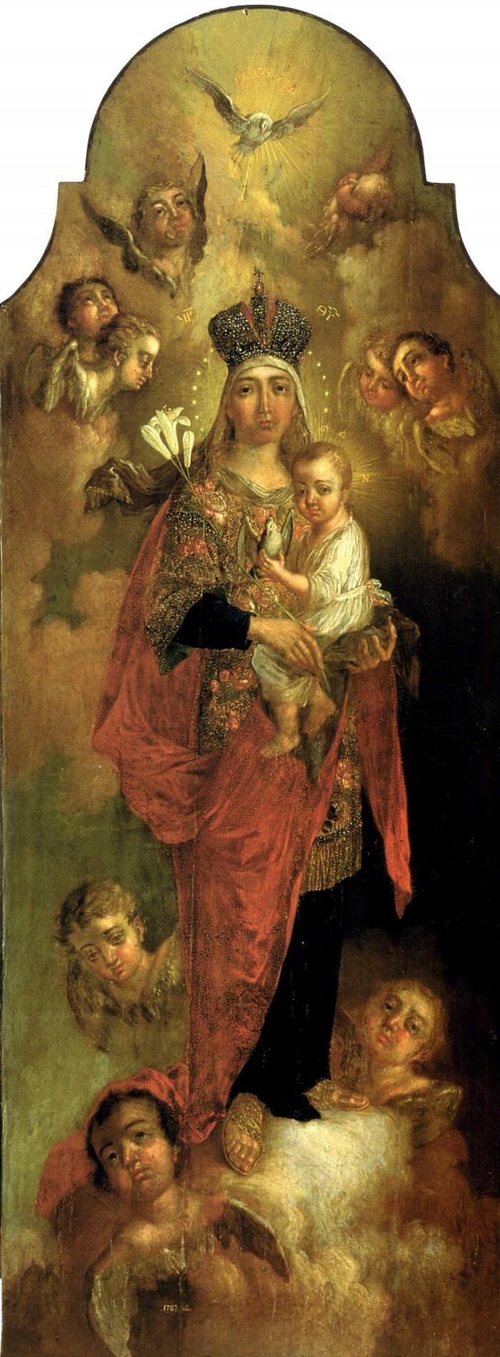 Богоматерь с младенцем . 1787 Национальный художественный музей Украины, Киев
