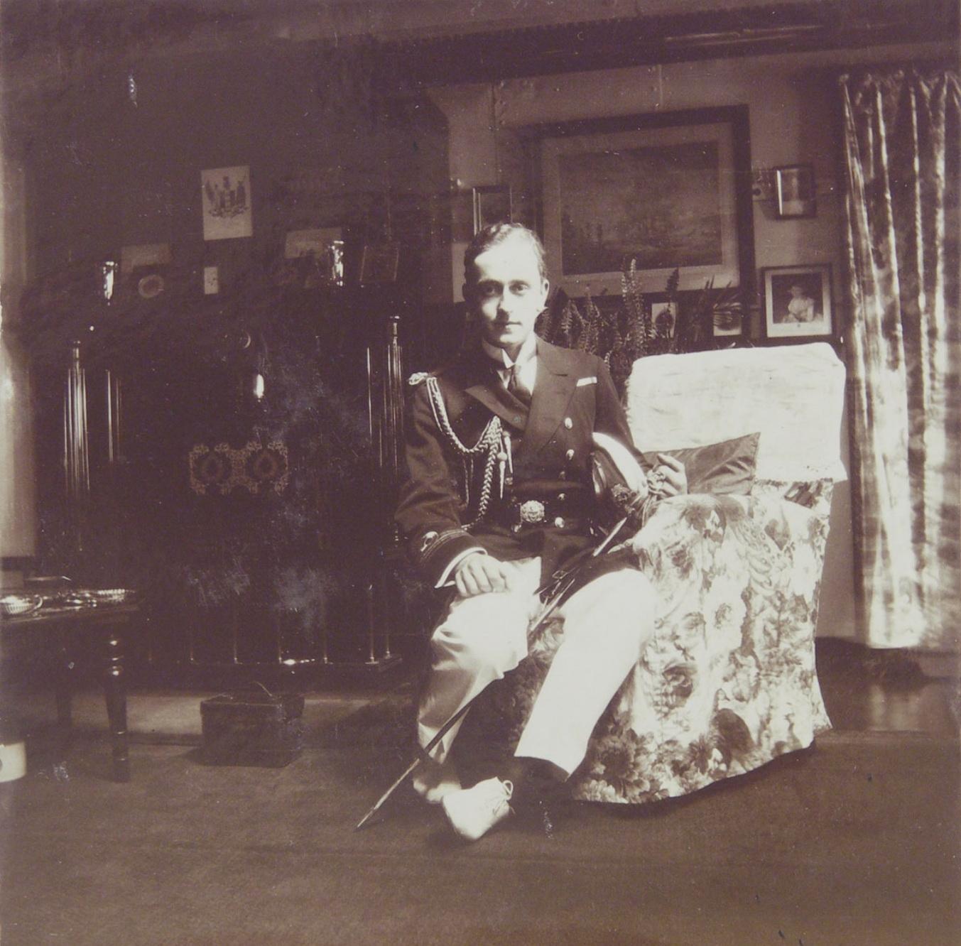 1915. Джордж Маунтбеттен на Нижней даче