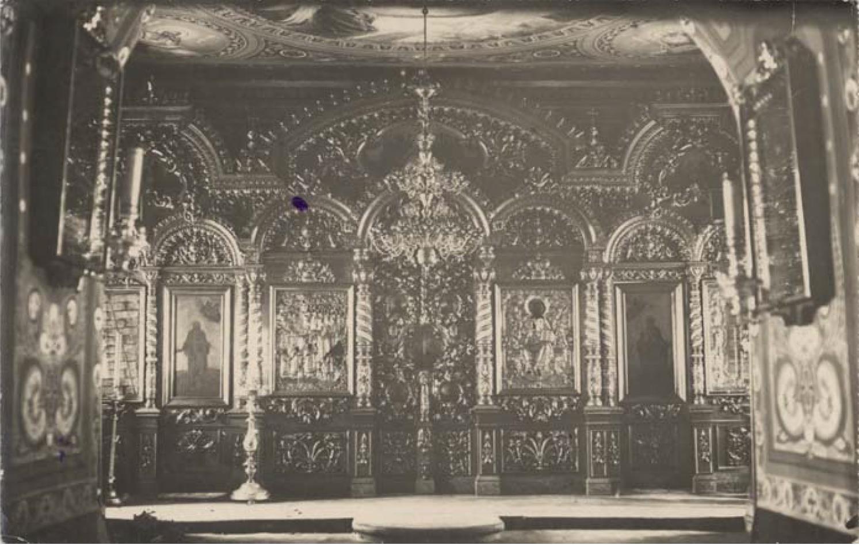Сергиевская церковь 1779 г. Иконостас тёплой церкви (нижний этаж)