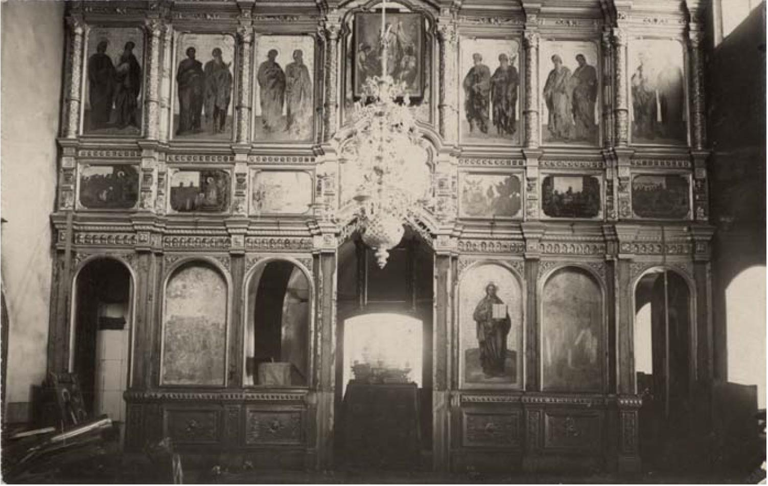 Ильинская церковь 1773 г. Иконостас тёплой Варваринской церкви (нижний этаж)