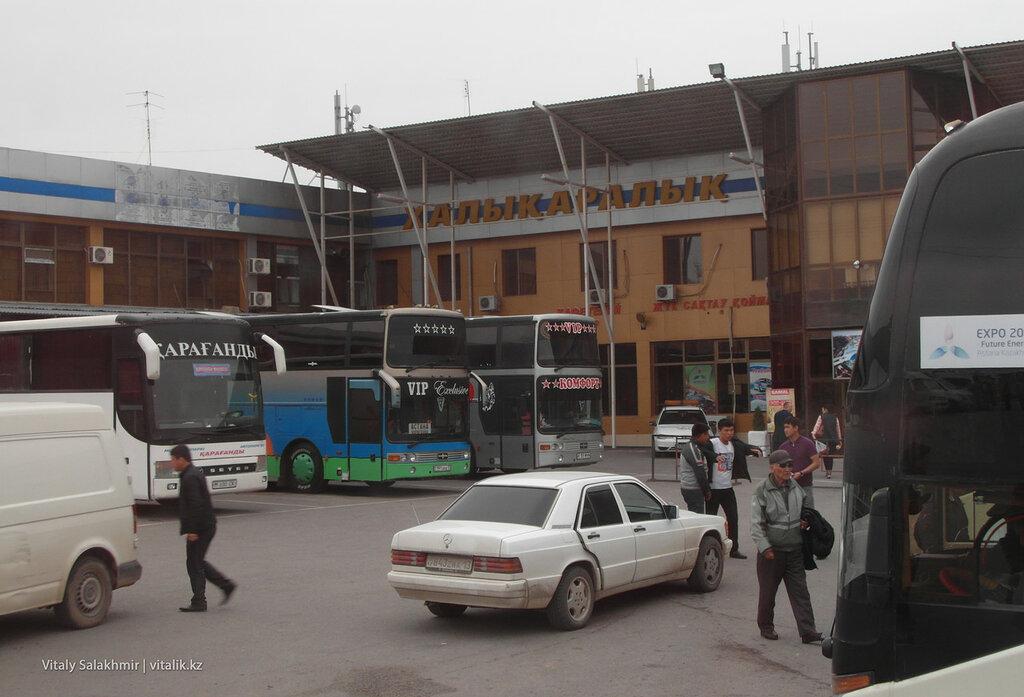 Двор автовокзала Самал в Шымкенте