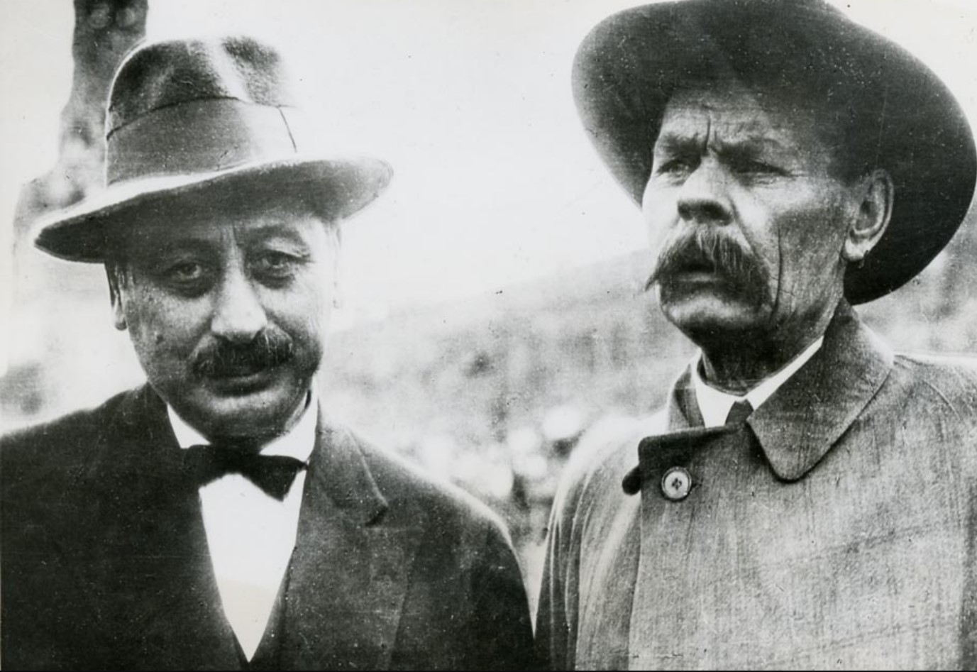 1930. Максим Горький и писатель Шолом Аш в Москве