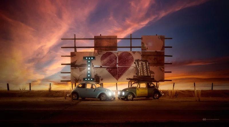 Volkswagen игрушки машины Мексика фотограф
