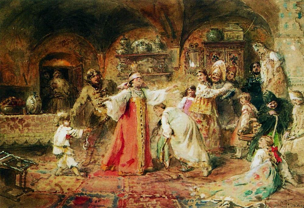 Игра в жмурки. 1890-е. Частное собрание