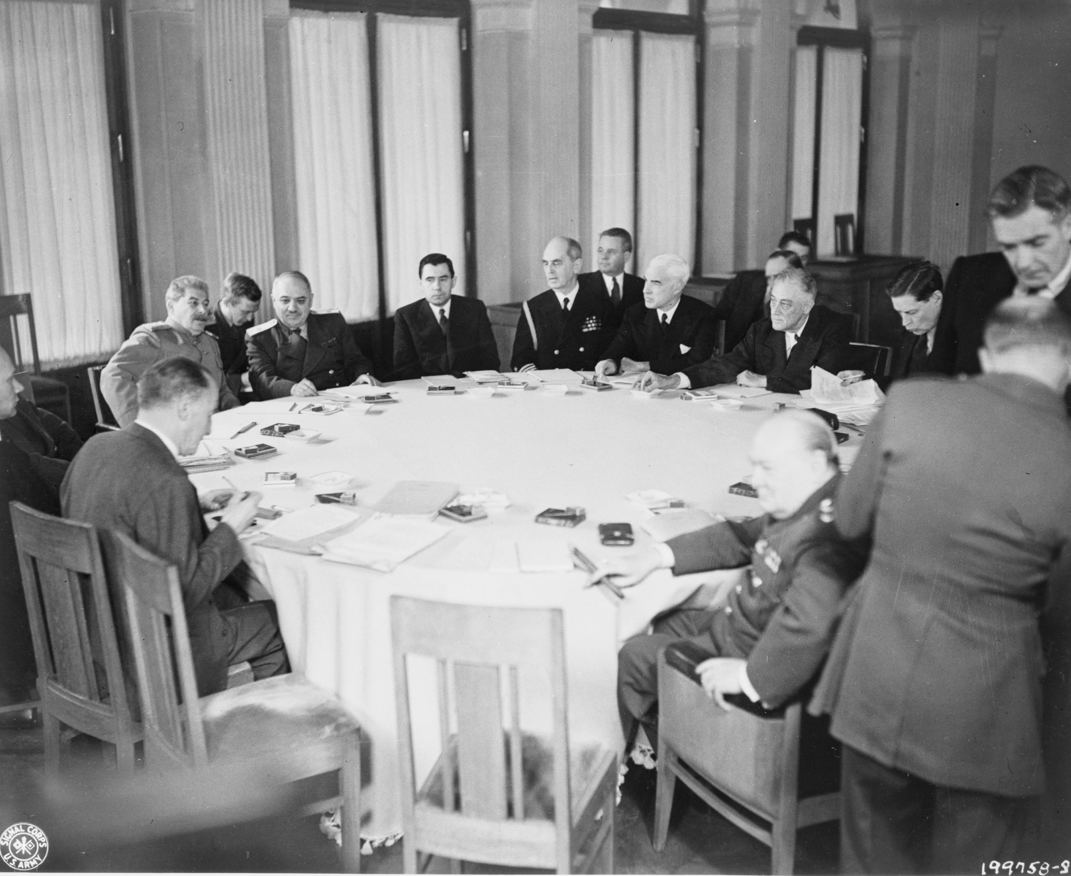 Встреча «Большой тройки» на Ялтинской конференции