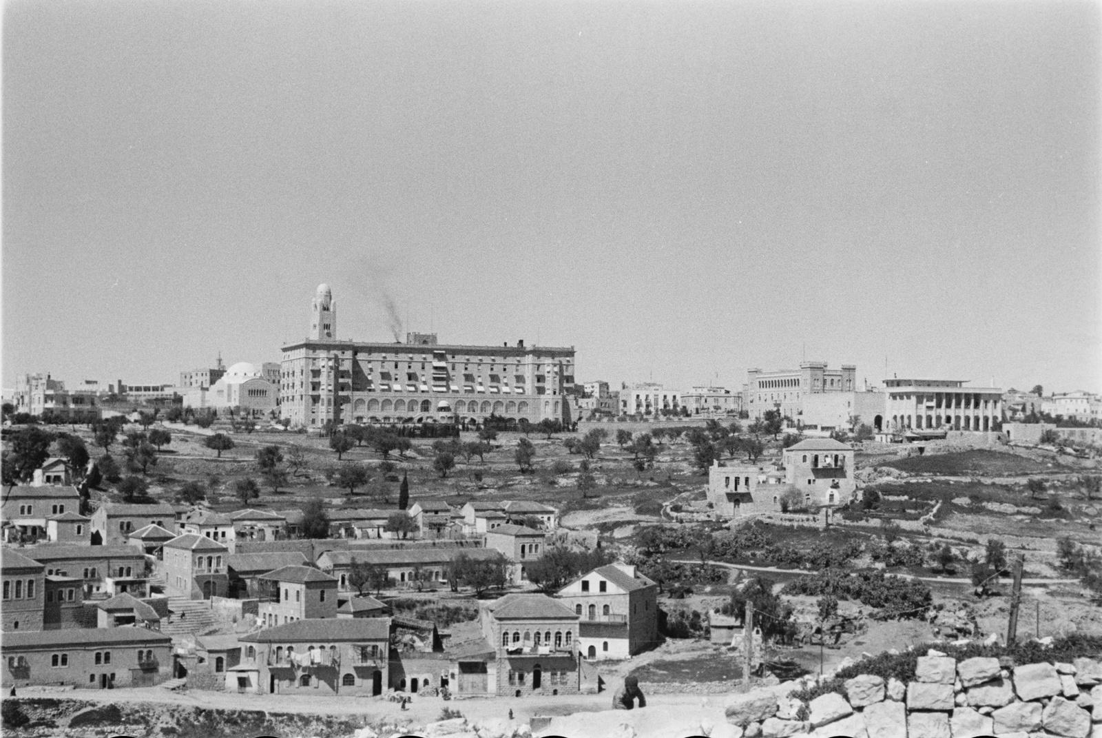 Вид на Иерусалим и башню YMCA