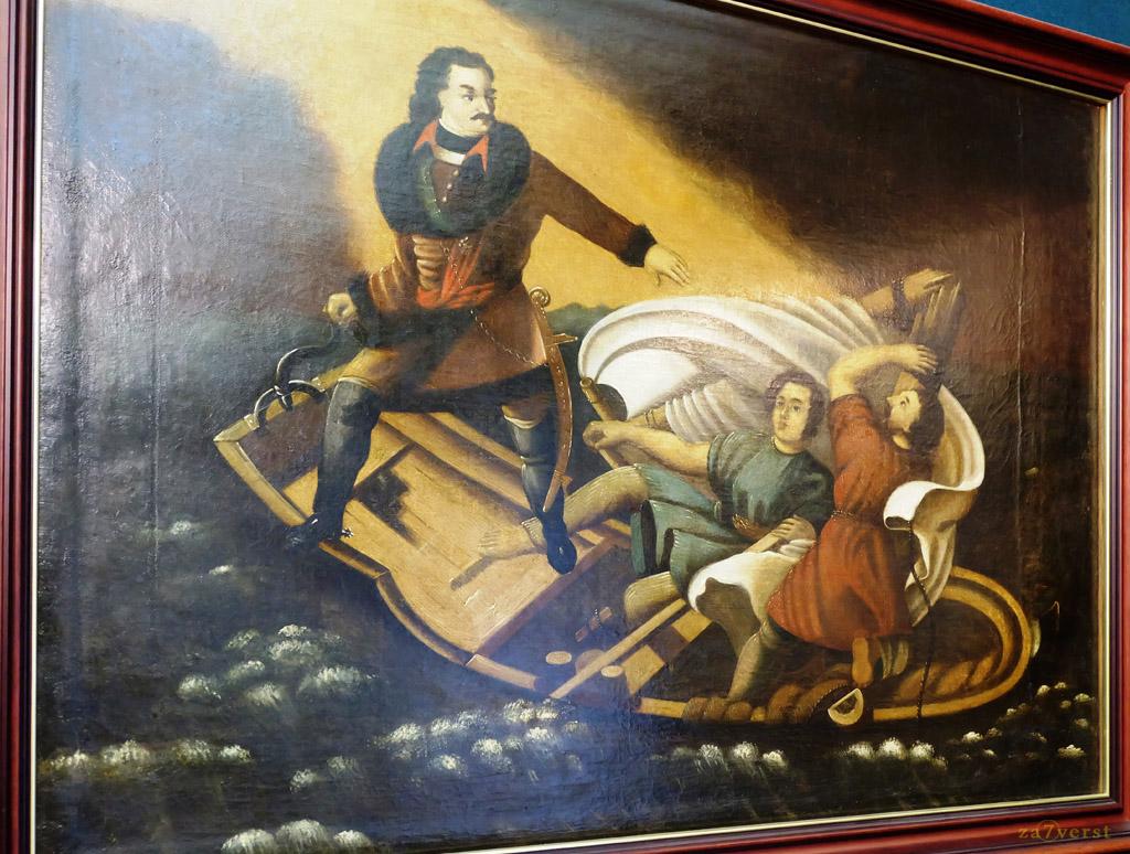 Домик Петра в Вологде, музей, картина