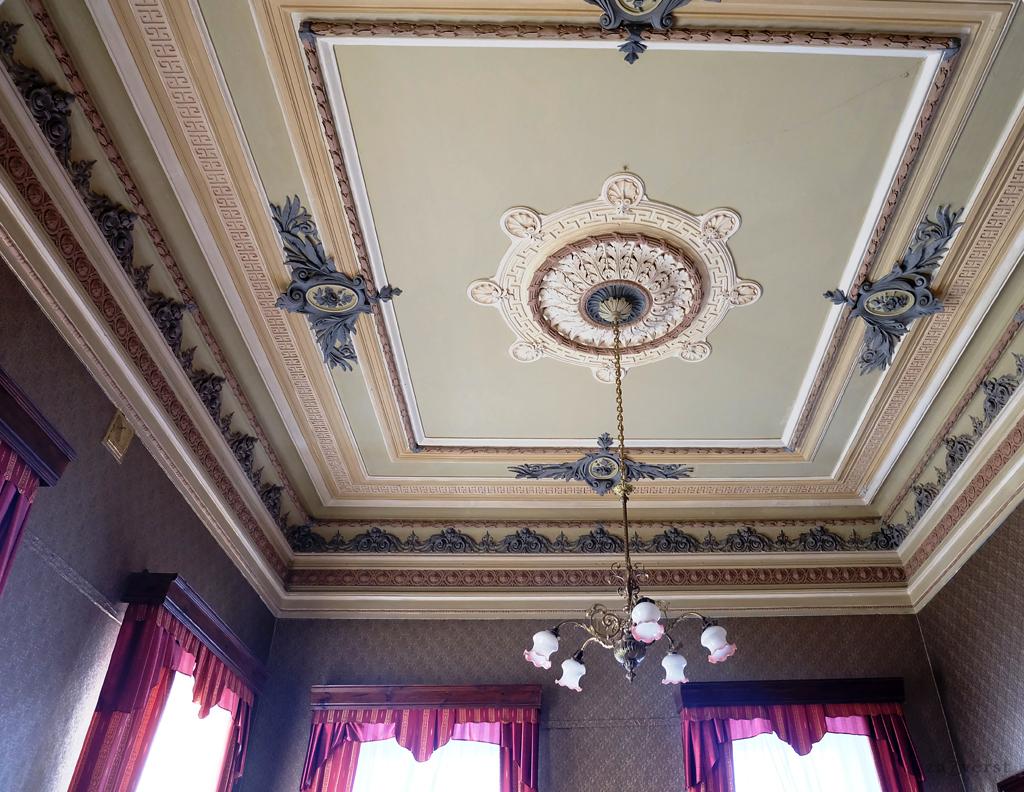 Дом-особняк М.А. Павлова в Шуе, интерьер, потолок