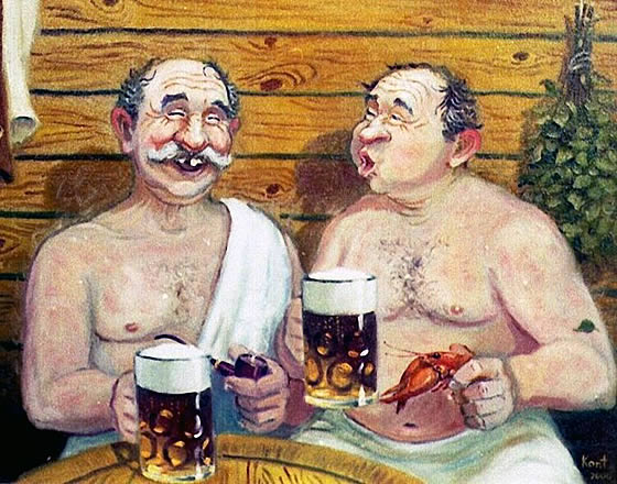 С Днем Пивовара! Пиво после баньки!