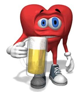 С днем пивовара! Сердце с кружкой пива