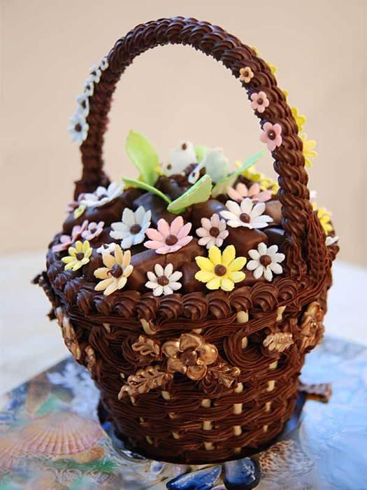 Всемирный день шоколада 11 июля. Корзина с цветами из шоколада