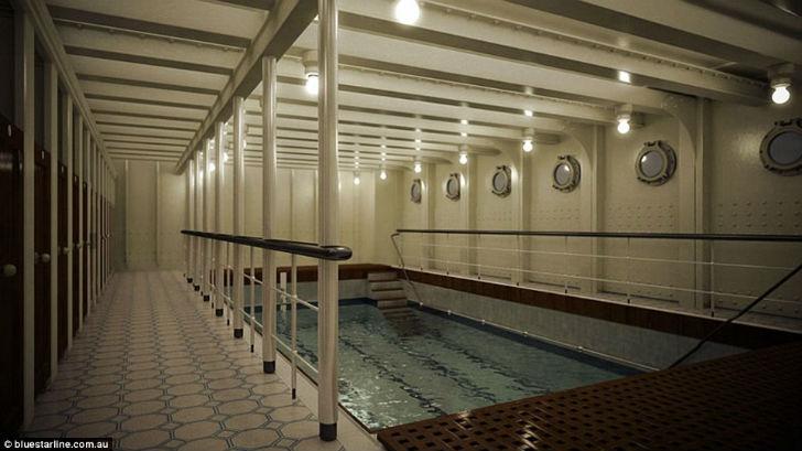 На современном корабле будет только один бассейн.
