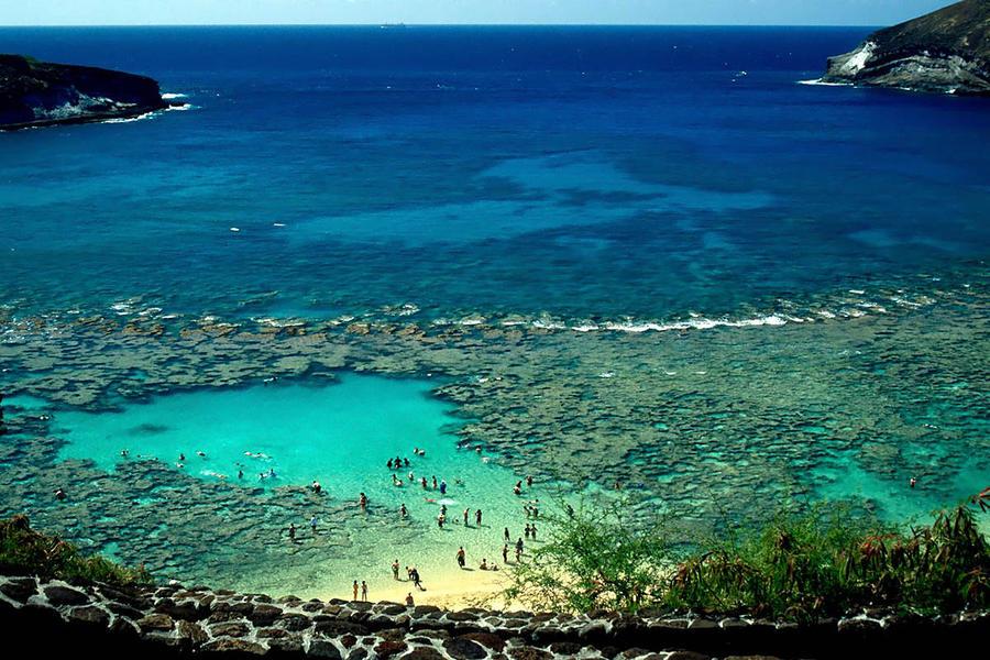 6. Залив Ханаума. Идеальное место для снорклинга – это бухта Ханаума Бей (Изогнутый залив) в США, на