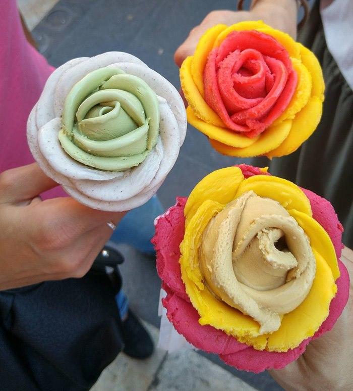 Что может быть лучше цветов? Только цветы из мороженого