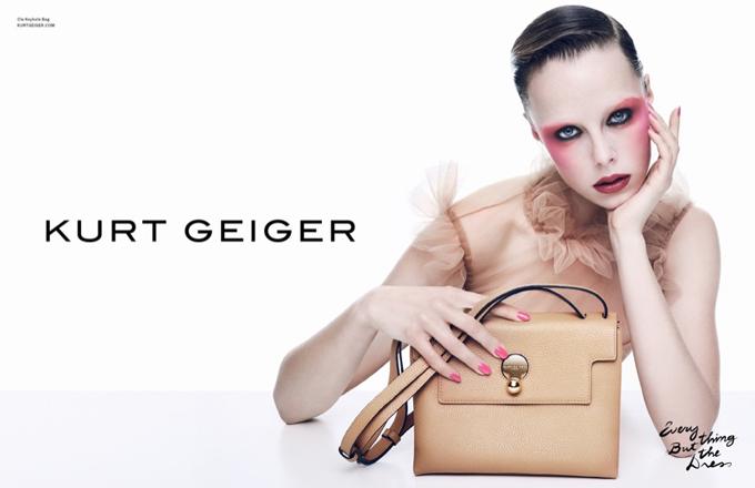 Эди Кэмпбелл в рекламной кампании Kurt Geiger