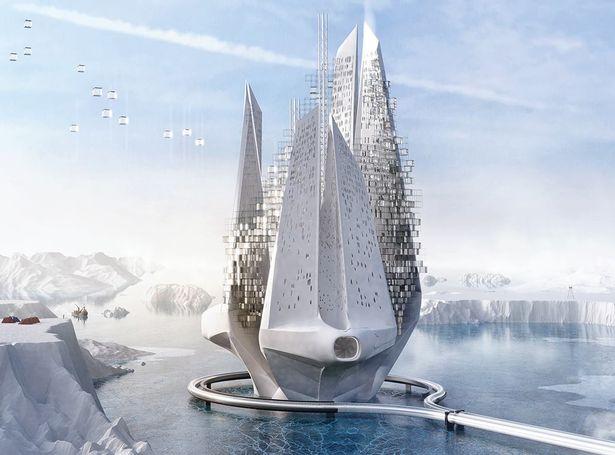 Проект здания на антарктическом айсберге называется «Машина для глобального потепления наоборот».