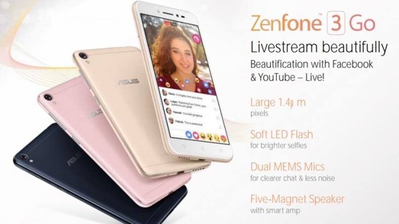 Размещена информация о телефоне Asus Zenfone 3 Go