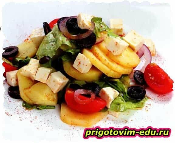 Картофельный салат с черри