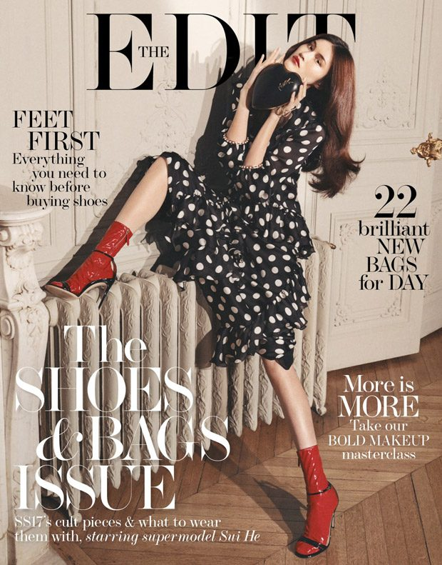 Supermodel Sui He Stars in The Edit Magazine Cover Story